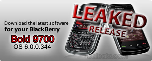 Download and update the BlackBerry Bold 9700 OS 6 0 0 344