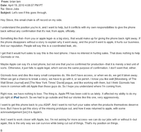 Gizmodo_e-mail_to_Jobs___We_have_nothing_to_lose____Apple