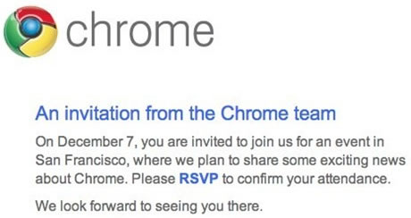 Google Event December 7: Chrome OS, Web Store and Netbook Chrome