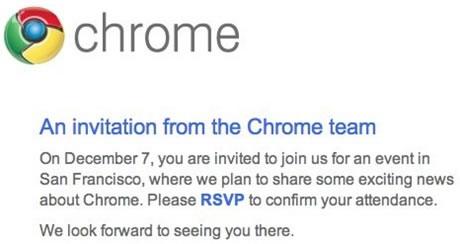 Google Event December 7: Chrome OS, Web Store and Netbook Chrome