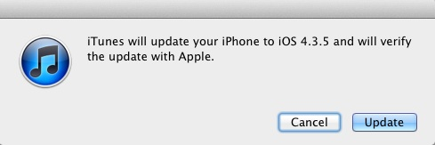 Replace as quickly as conceivable to iOS four.three.5