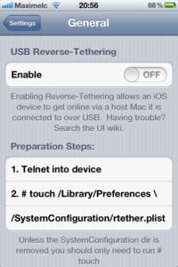 Reverse-tethering