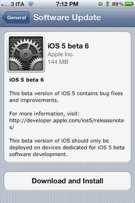 Ios 5 beta 6 ipsw ota