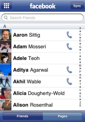 Facebook-iphone-app