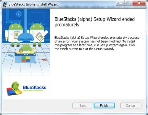 Bluestacks-alpha-error