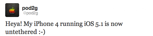 Podg2-untethered-jailbreak-iOS 5.1