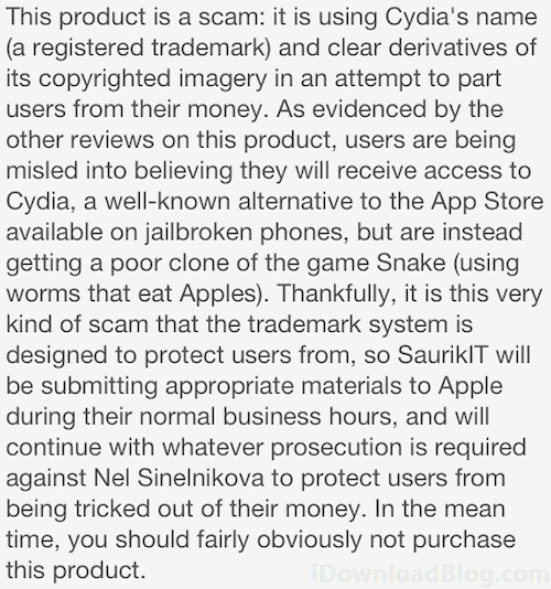 Fake-Cydia-Saurik-Review