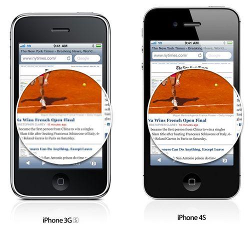 Retina-Display-vs-iPhne-3GS