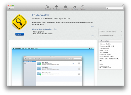Retina-mac-app