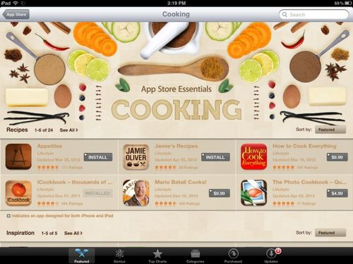 Cooking-app-store