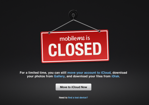 Mobileme-closed